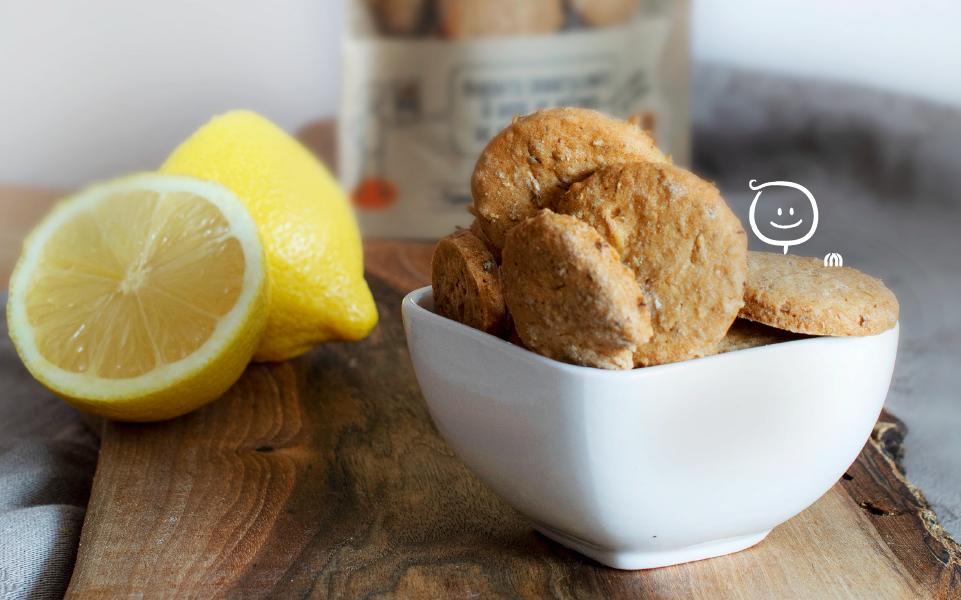 Biscuits sablés au citron - Goûter source de fibres