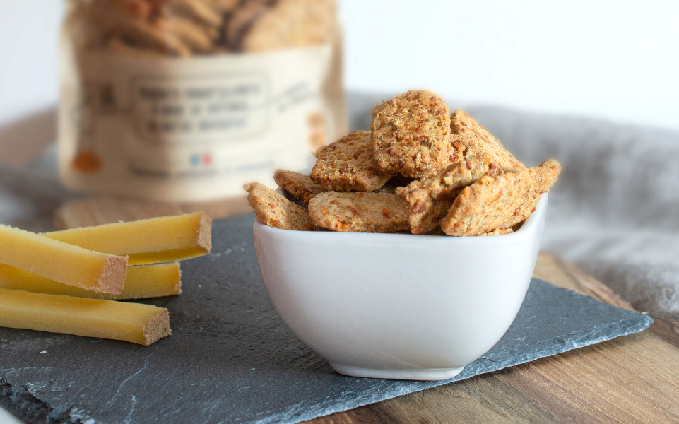 Biscuits apéritifs au fromage comté - Source de fibres