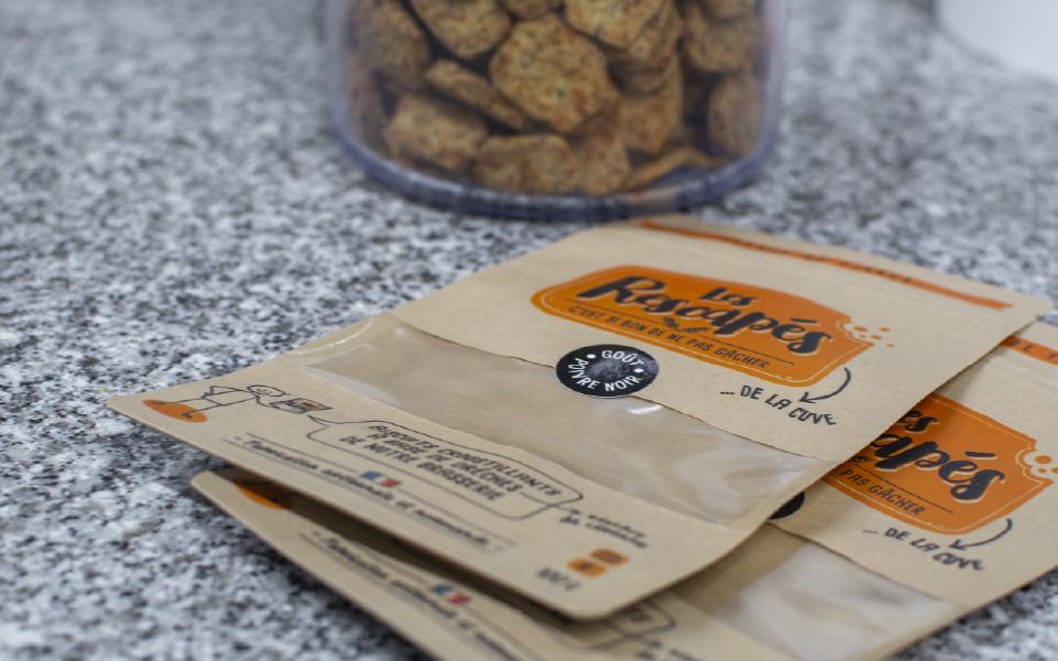 Sachets de biscuits à remplir au poivre noir
