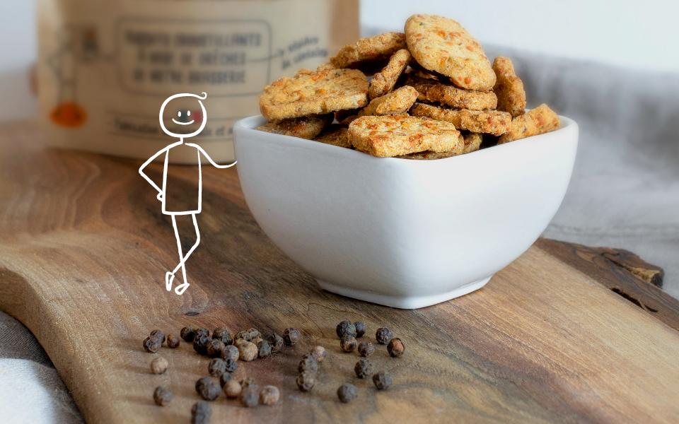 Biscuit au poivre noir - Apéritif zéro déchet